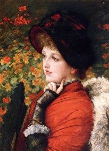type-of-beauty-portrait-of-mrs-kathleen-newton-in-a-red-dress-and-black-bonnet-1880