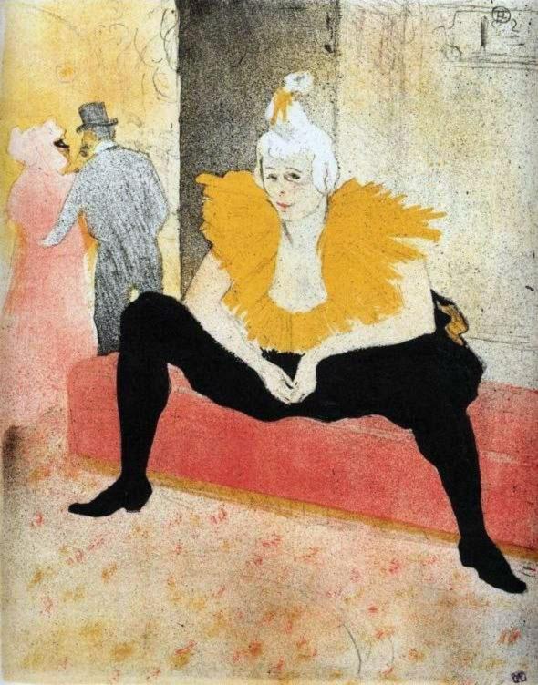 La clownessa al Moulin Rouge, 1897