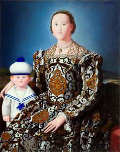 Antonio Bueno  Eleonora di Toledo con il figlio don Garcia generalissimo del mare, 1984