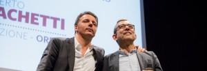 Elezioni 2016, Roma, Incontro Renzi Giachetti all'Auditorium